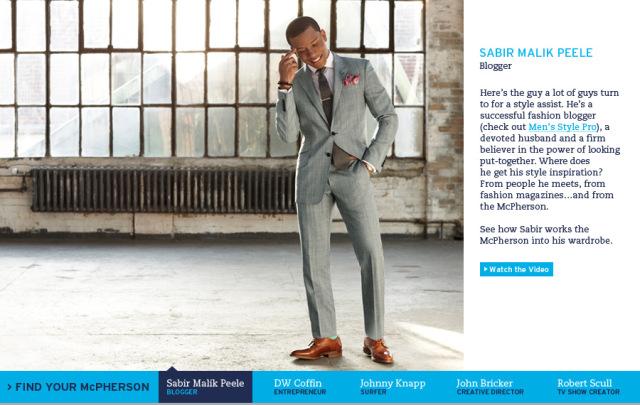 Sabir Peele In Johnston & Murphy Campaign