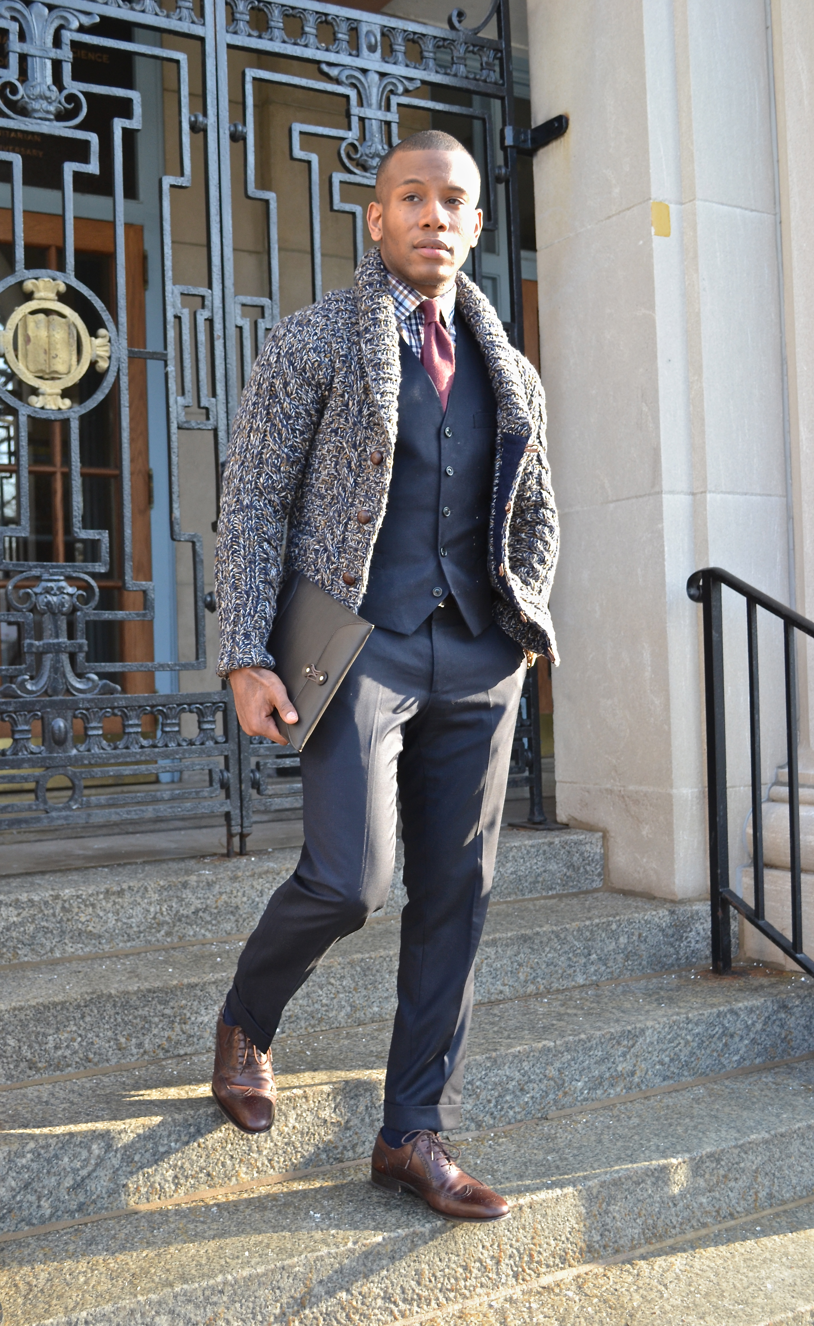 Men's Style Pro in Cardigan as Outerwear