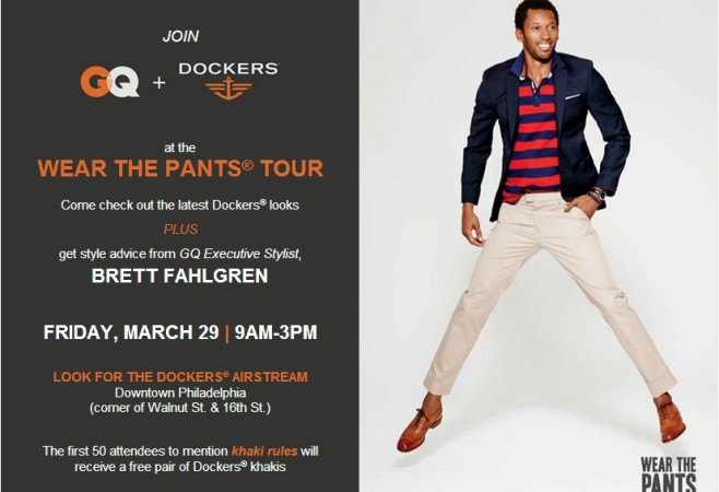 Style News: Dockers x GQ Descend on Philly March 29th & 30th