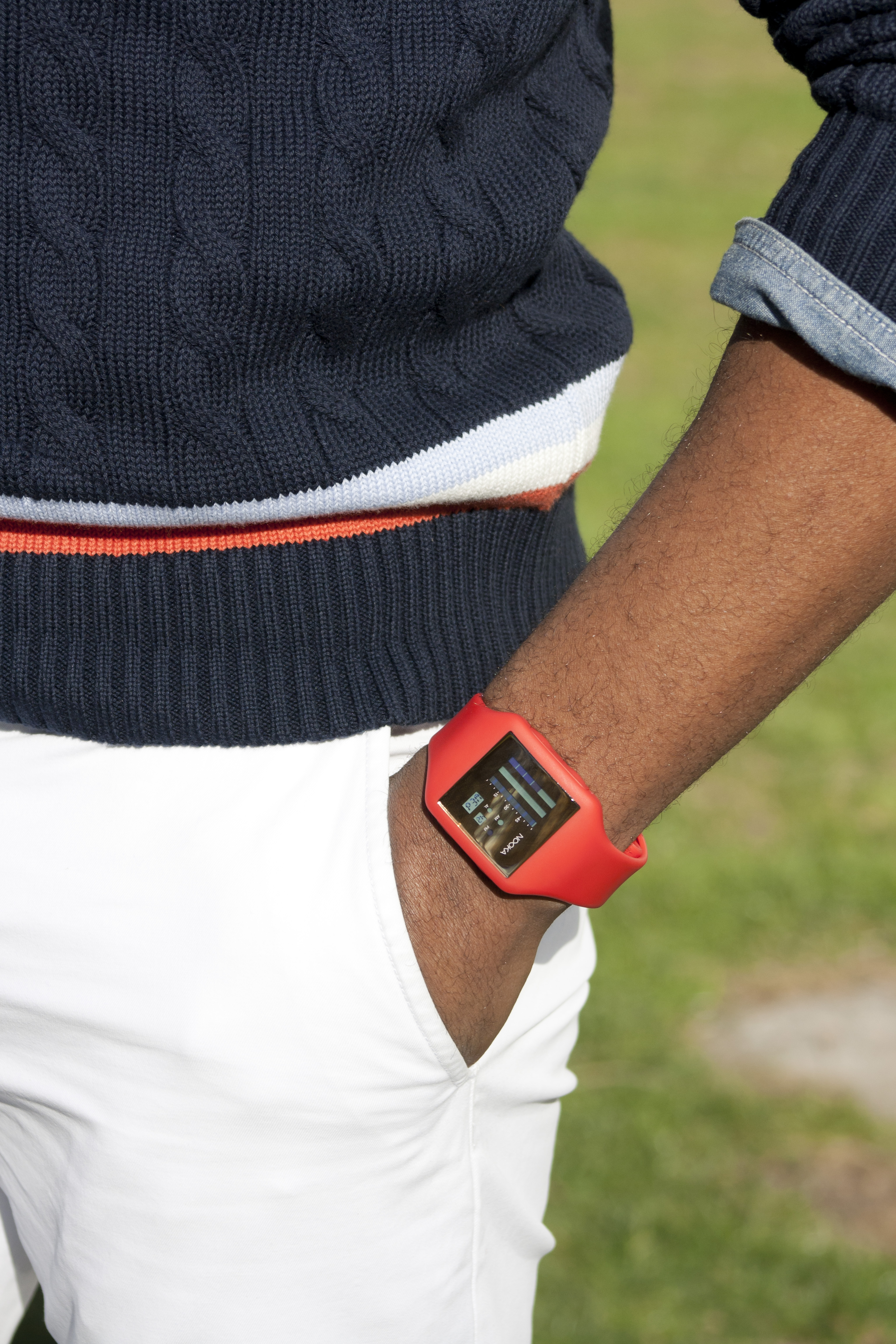 Sabir in Uniqlo Cricket Sweater with Nooka Watch