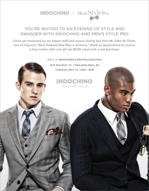 Get Styled by Men's Style Pro x Indochino Philly Traveling Tailor May 21st