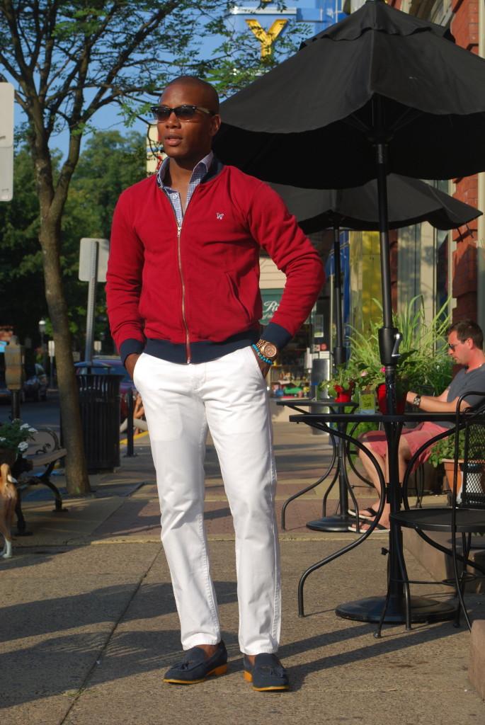 Sabir of Men's Style Pro Wearing Frank & Oak Jacket