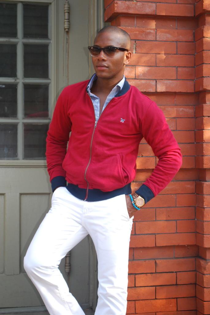 Sabir Peele in Frank & Oak Jacket