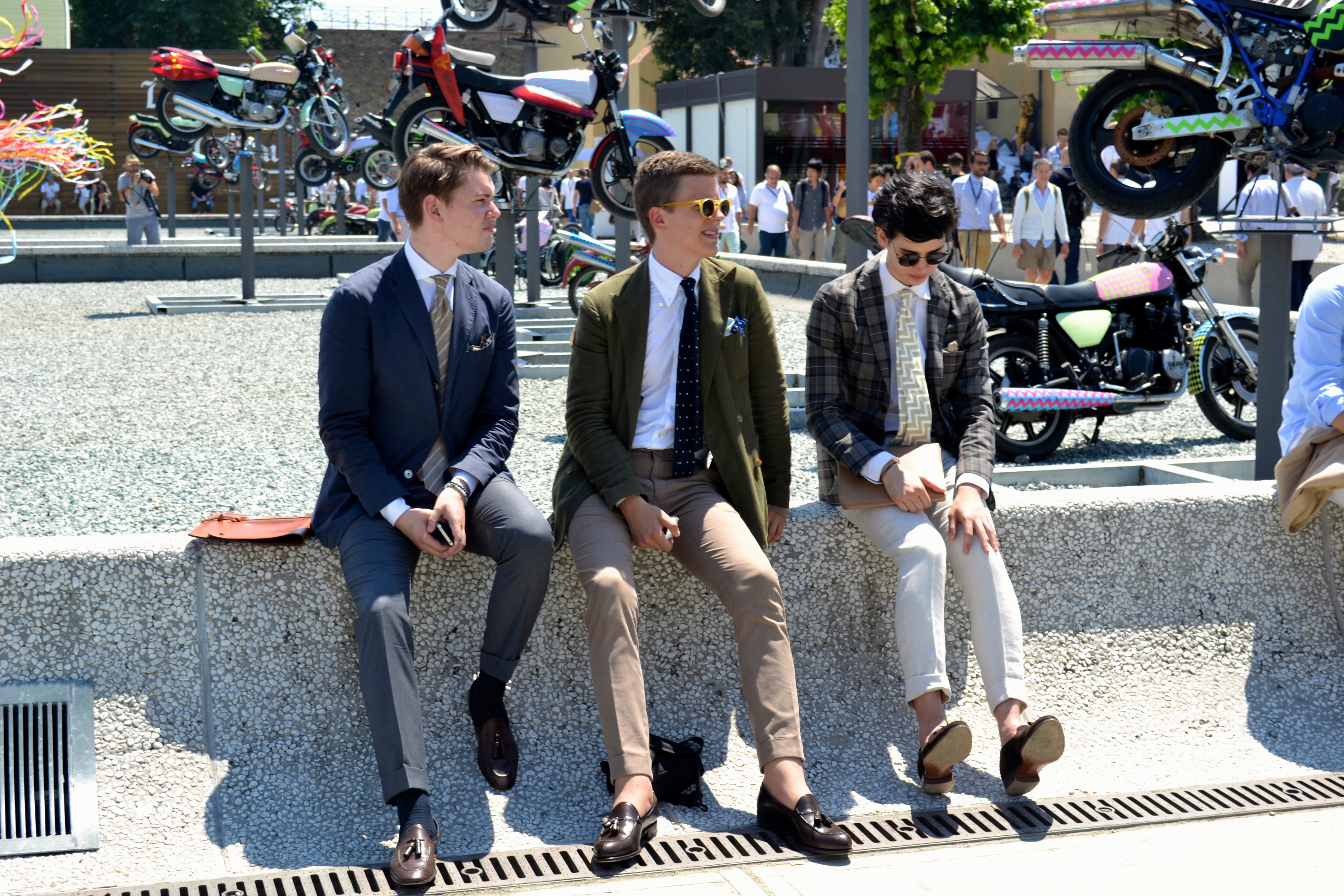 Guys at Pitti Uomo via Men's Style Pro