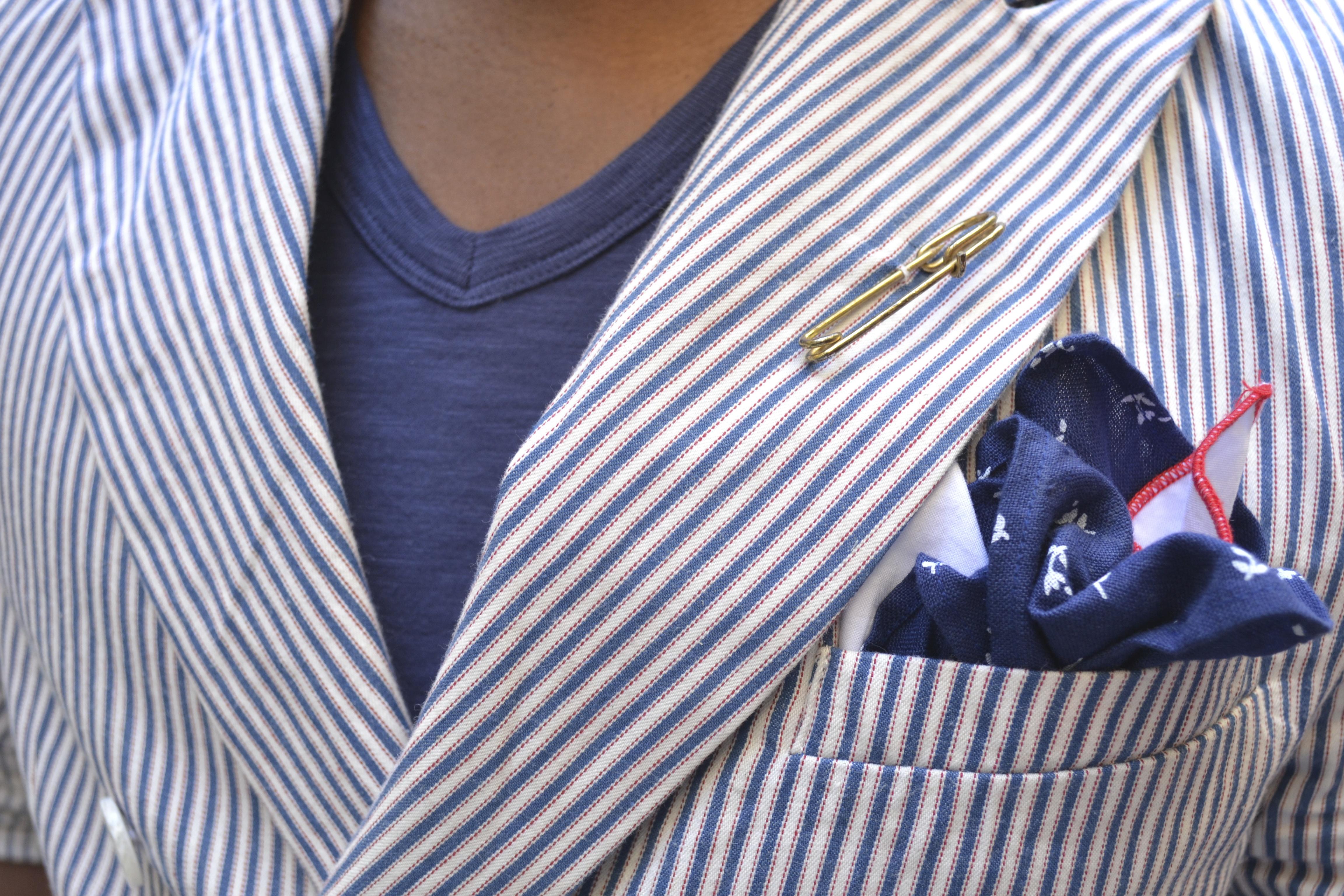Sabir Peele at Pitti Uomo 84 in Barque NY Blazer