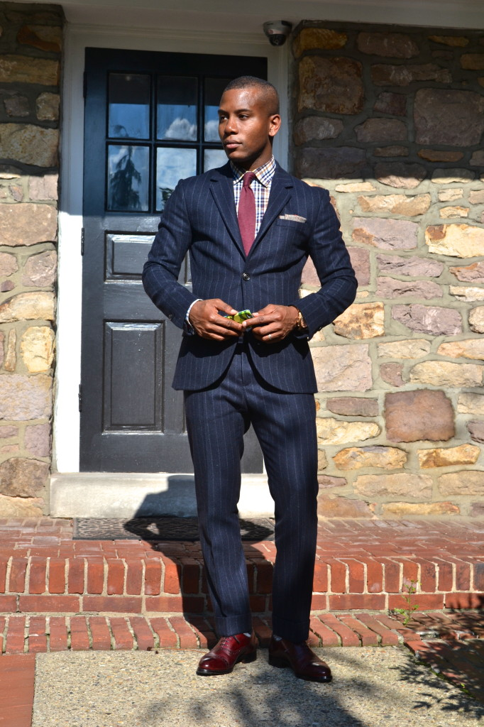 Jack Wills Suit on Sabir M. Peele