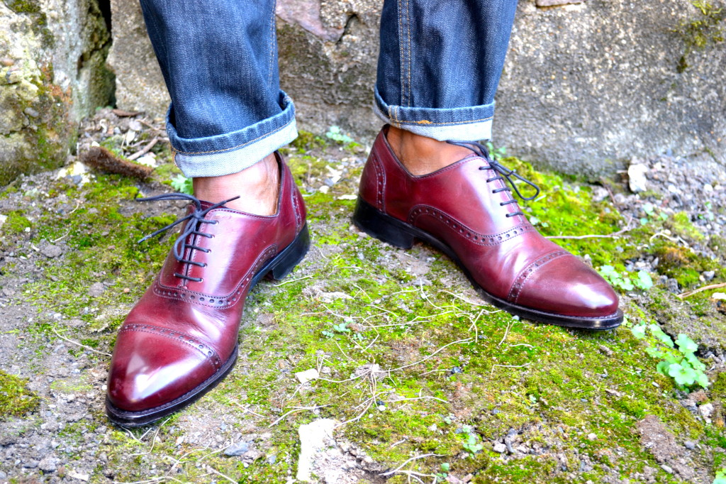 Sabir Peele in Paul Evans NY Brando Captoe in Oxblood