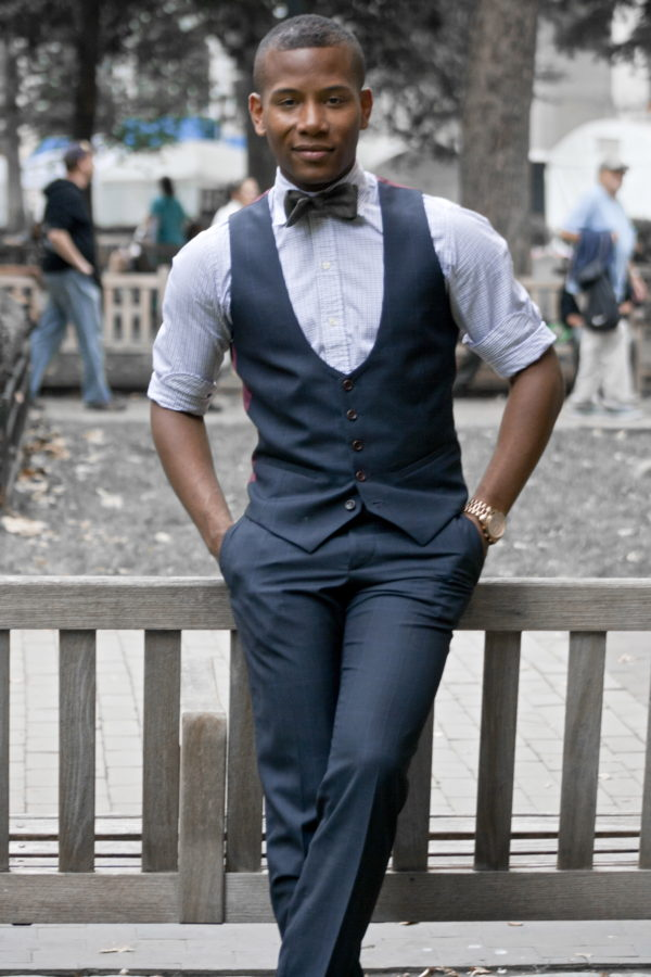 Lumina Clothing Bow Tie on Sabir Peele of Men's Style Pro