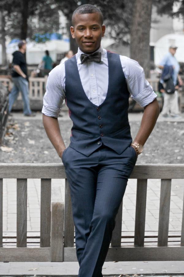 Lumina Clothing Bow Tie on Sabir Peele of Men's Style Pro