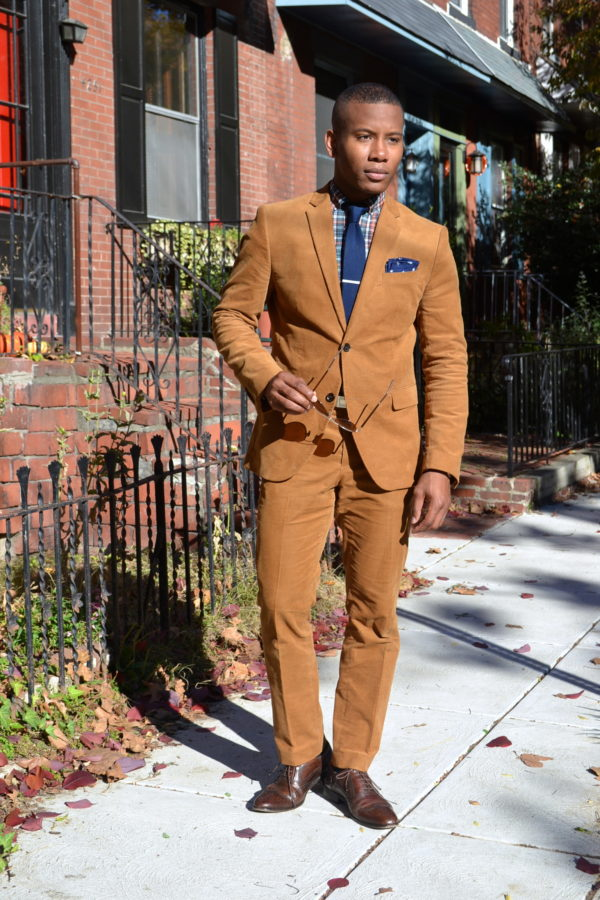 H&M Corduroy Suit & Plaid #MadeInPhiladelphia Shirt by Commonwealth Proper