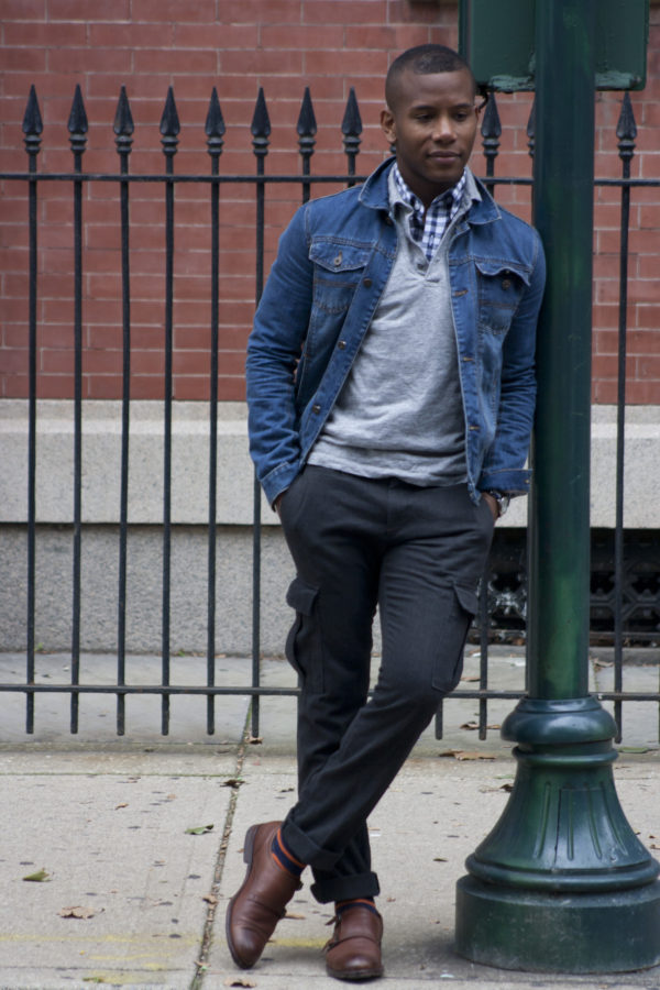 Layering Johnston & Murpy Shirt with grey pop over