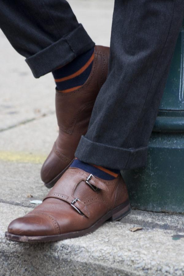 Johnston & Murphy Clayton Double Monk Strap Shoes