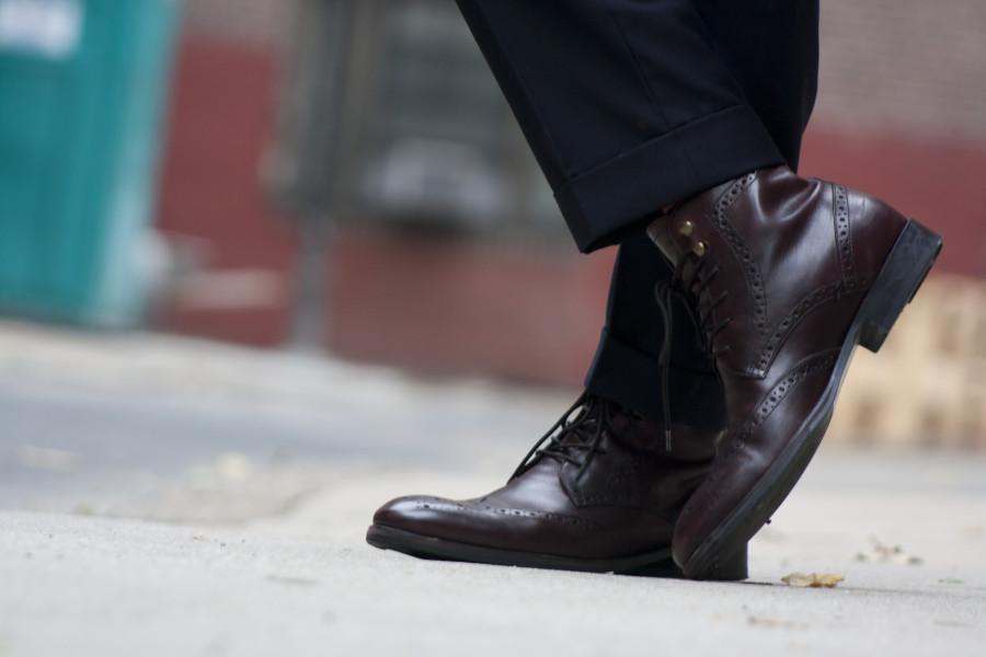 Johnston & Murphy Tyndall Oxblood Wingtip boots on Men's Style Pro #menswear