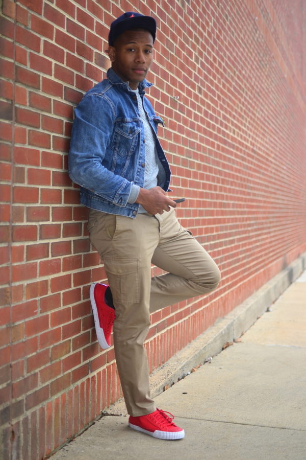 Sabir M. Peele in PF Flyers Nylon Sneakers & Nooka Watch