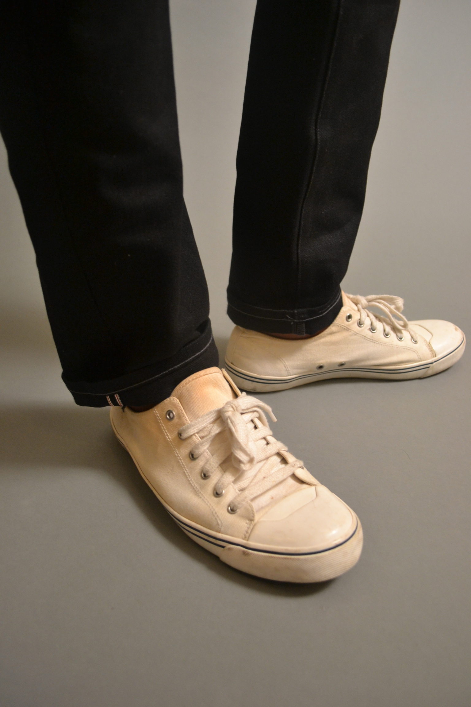 Sabir Peele in Lands Canvas Sneakers