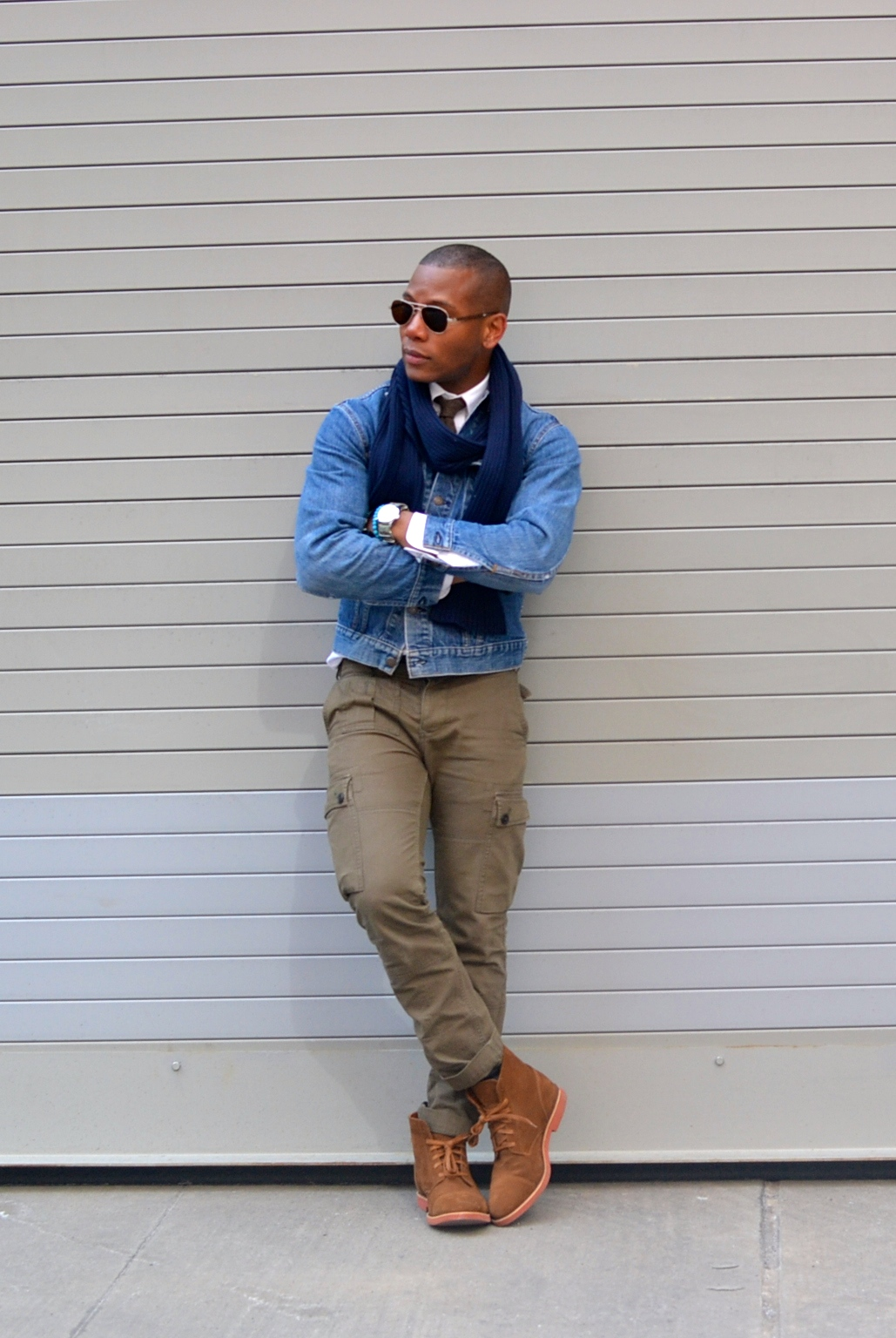 Sabir Peele in Humboldt Suede Boot by Walk Over Shoes