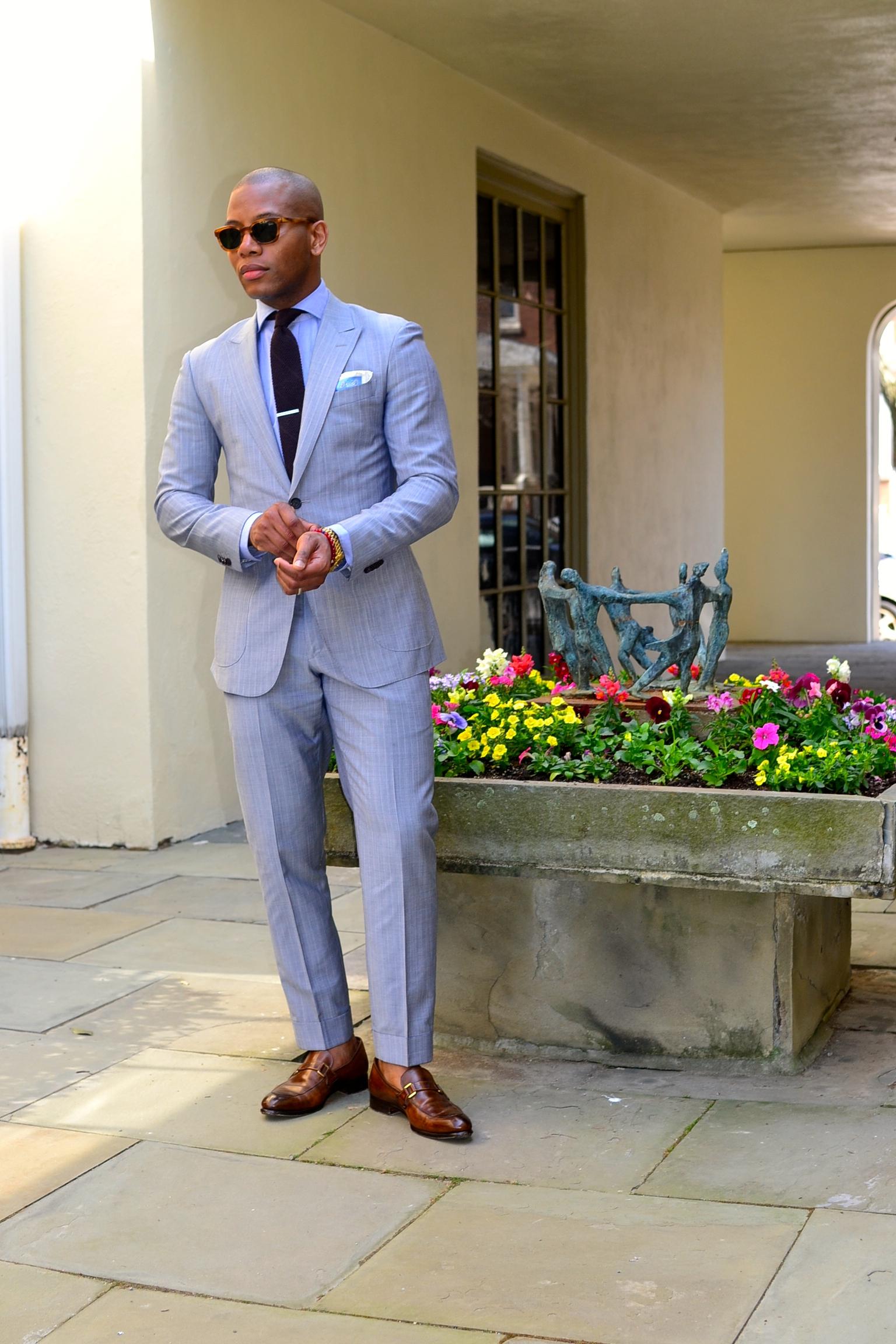 Sabir Peele in Black Lapel Custom Suit
