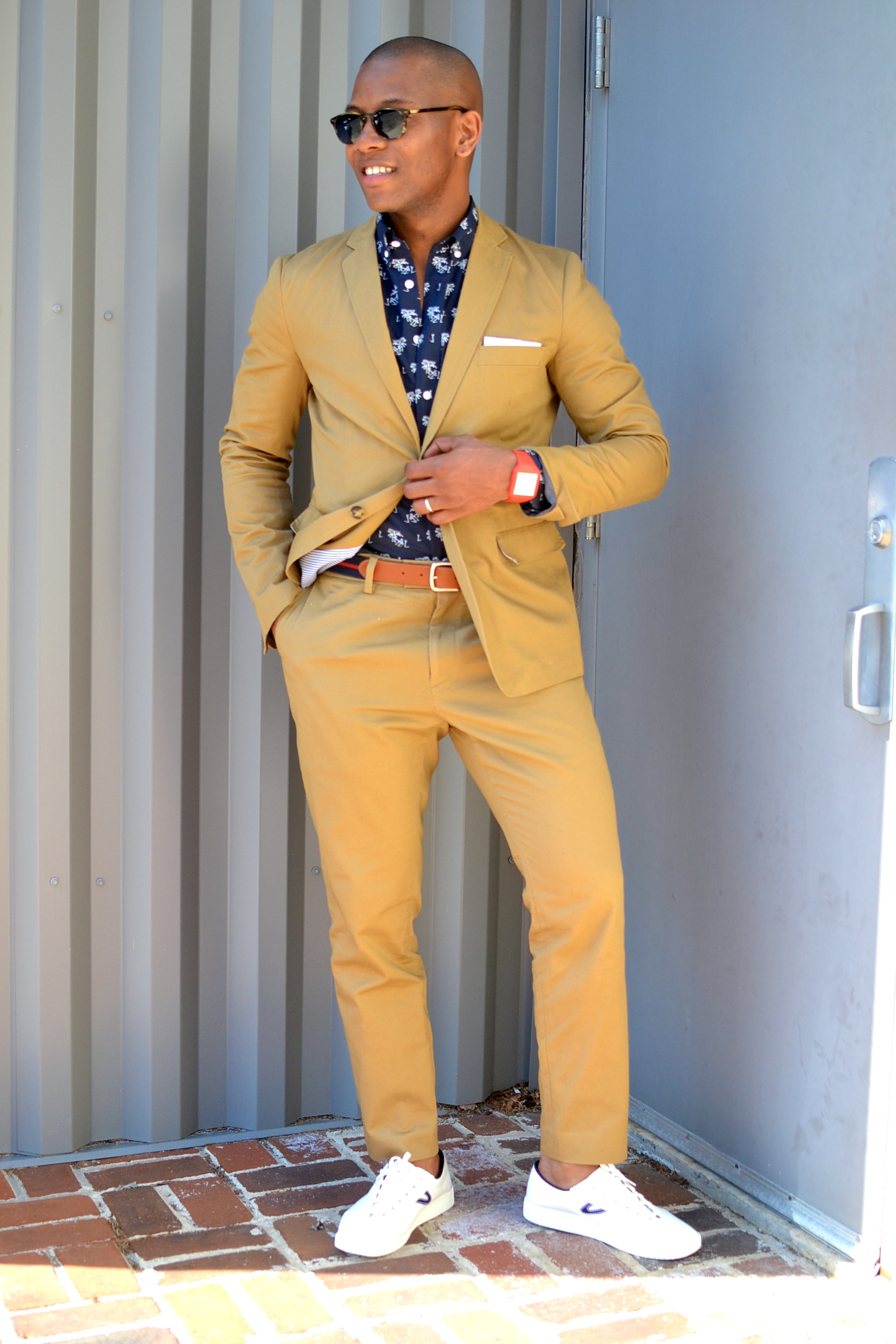 Frank & Oak Khaki Suit on Men's Style Pro