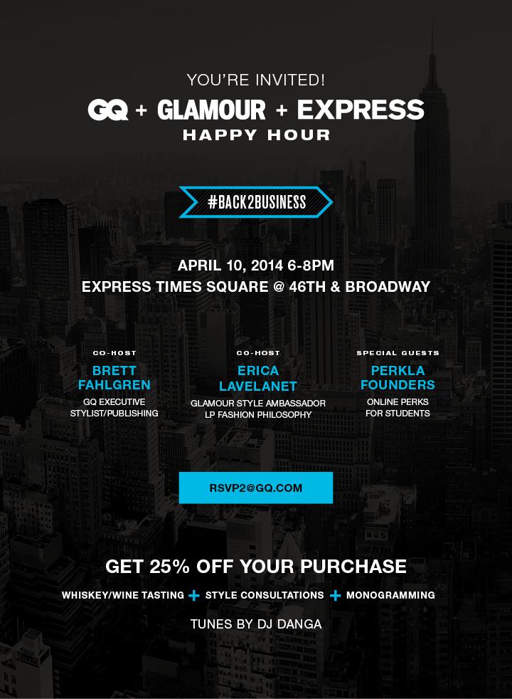 GQ x Glamour x Express Happy Hour