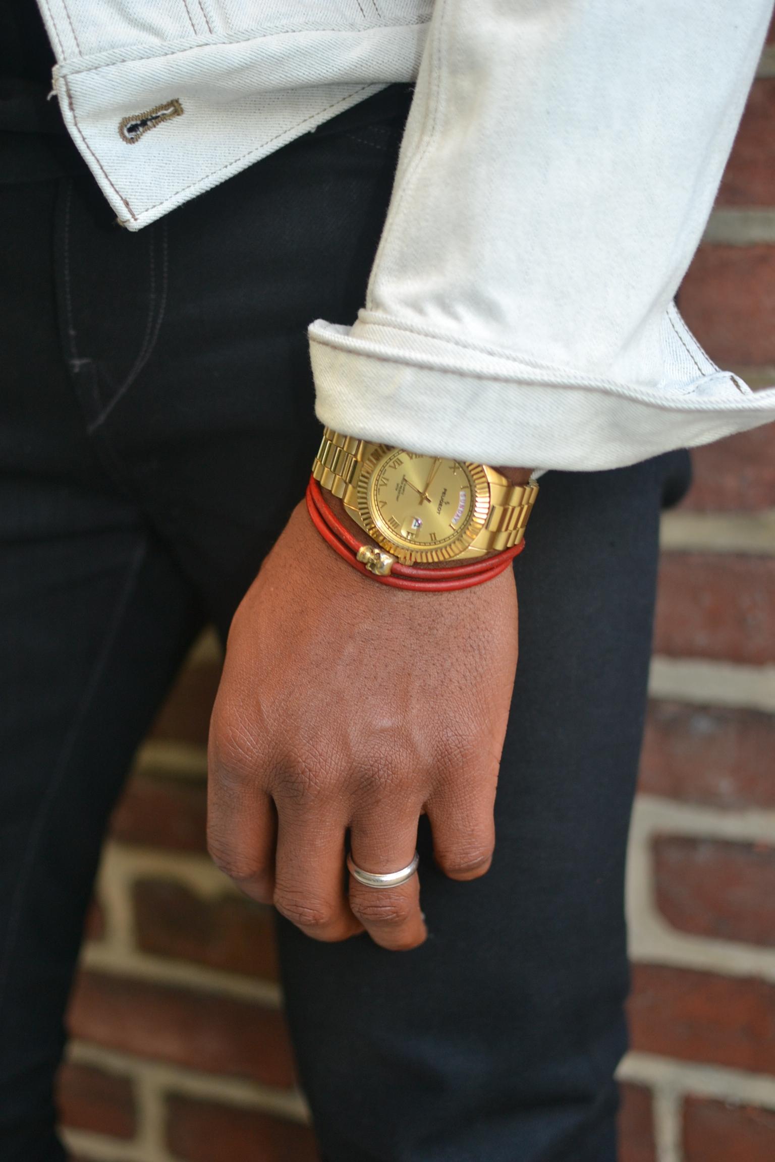 Sabir Peele in Bleach Onassis Jackets