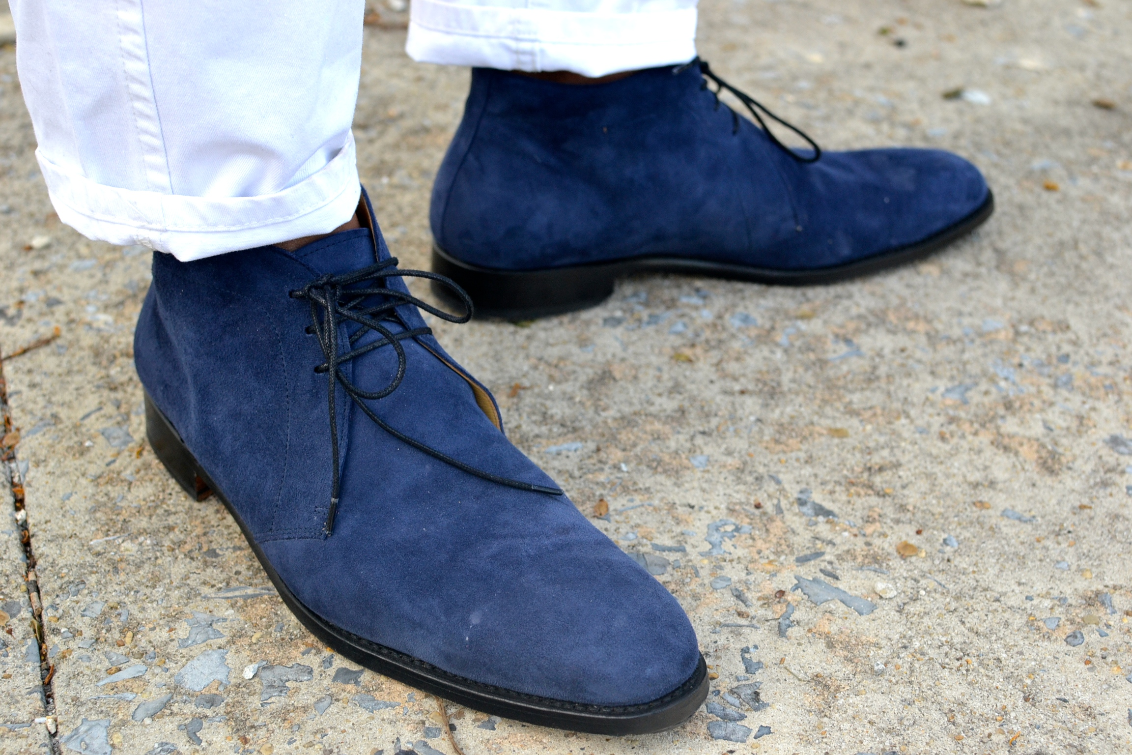 Shoe Passion No. 604 Blue Suede Chukka Boot