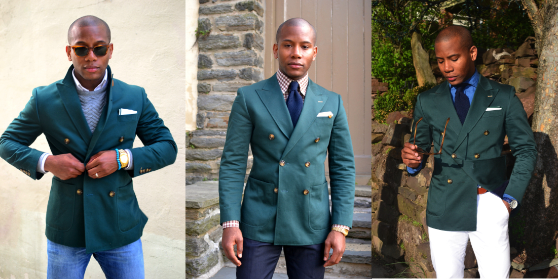 How To | Rock The Green Double-Breasted Blazer 3 Ways | Men's ...