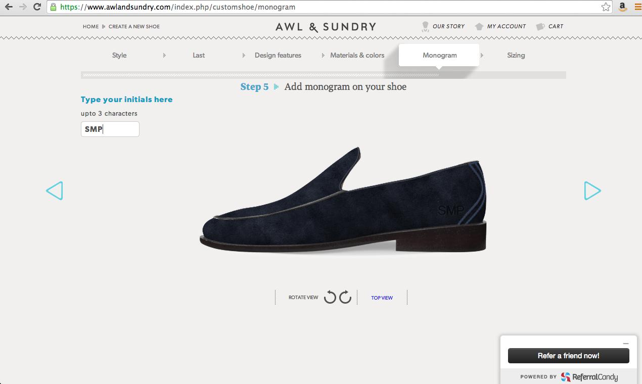 Awl & Sundry Site Layout