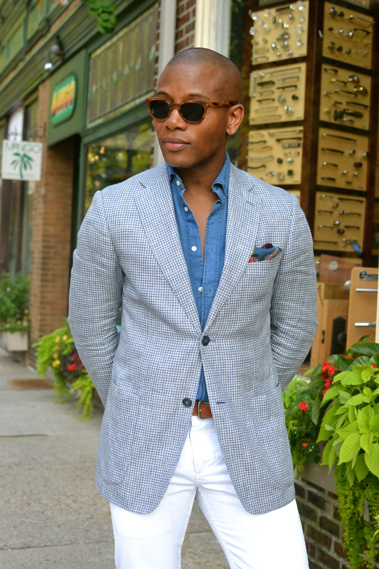 Blue Ellington Moc Toe Loafers on Men's Style Pro