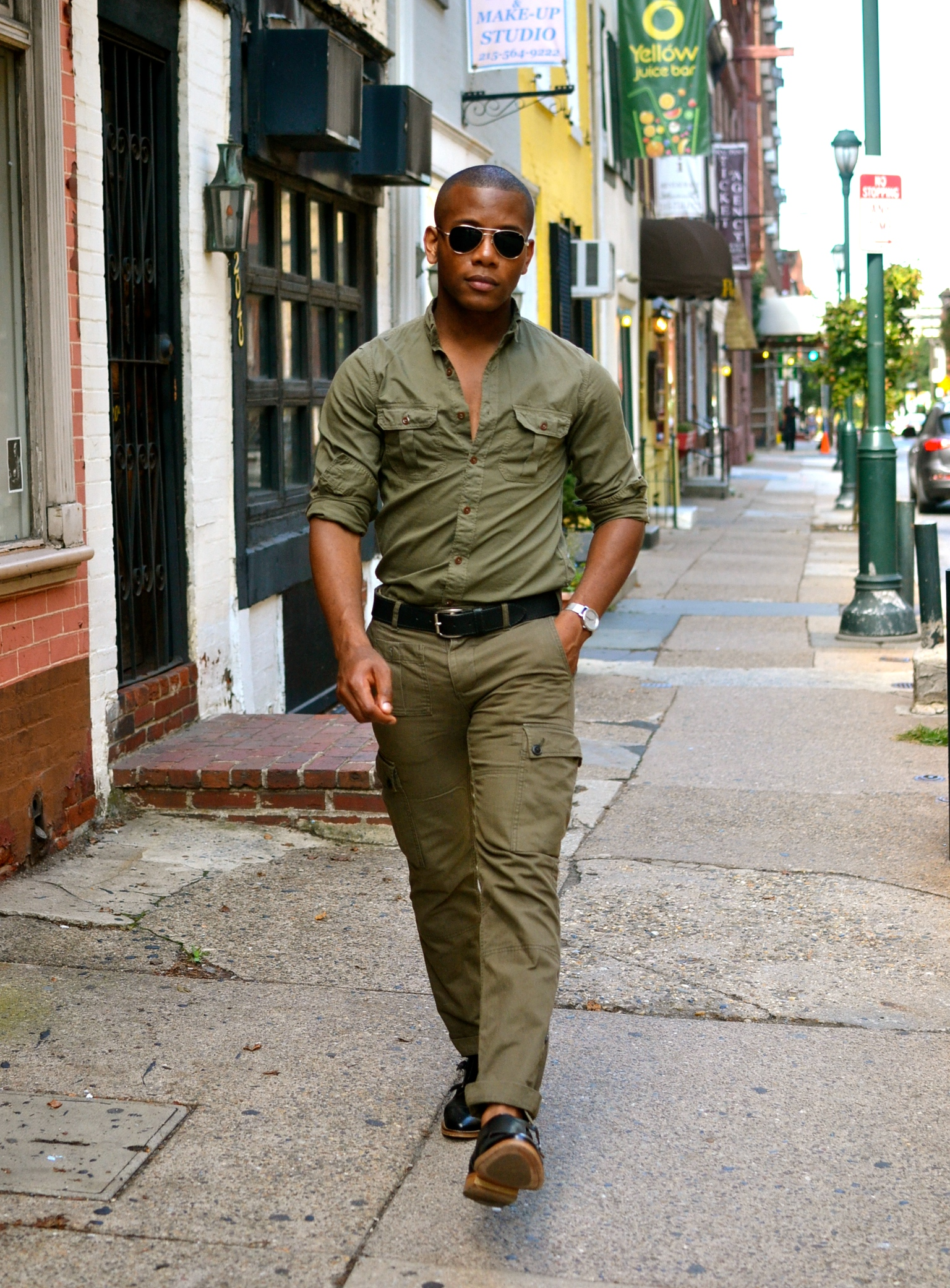 Men's Style Pro in Gap/Todd Snyder & Jcrew + Johnston & Murphy Black double monk straps