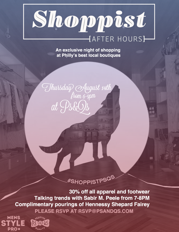 Shoppist After Hours x PsQs x MSP