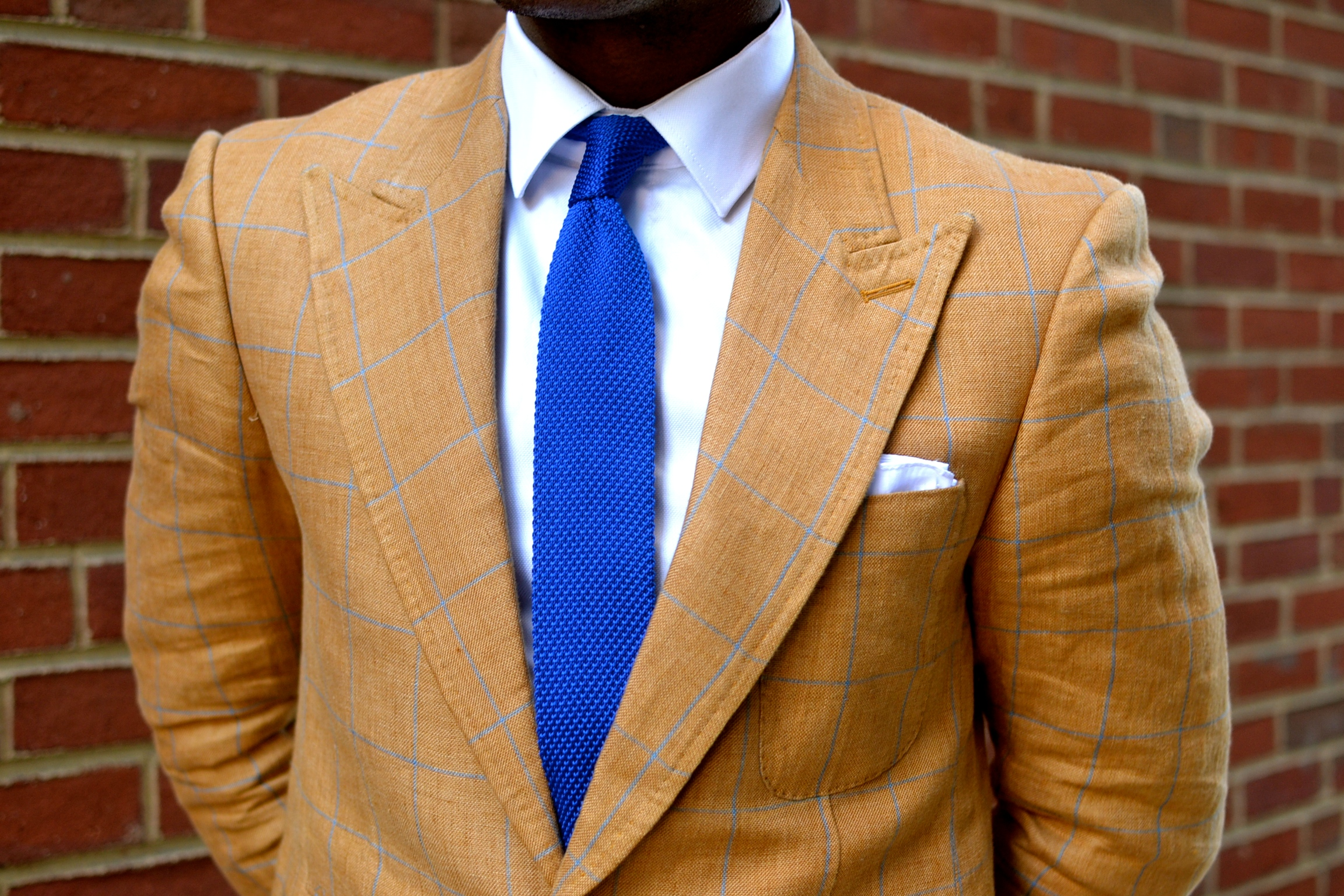 Wheat Linen Blazer by Brimble & Clark