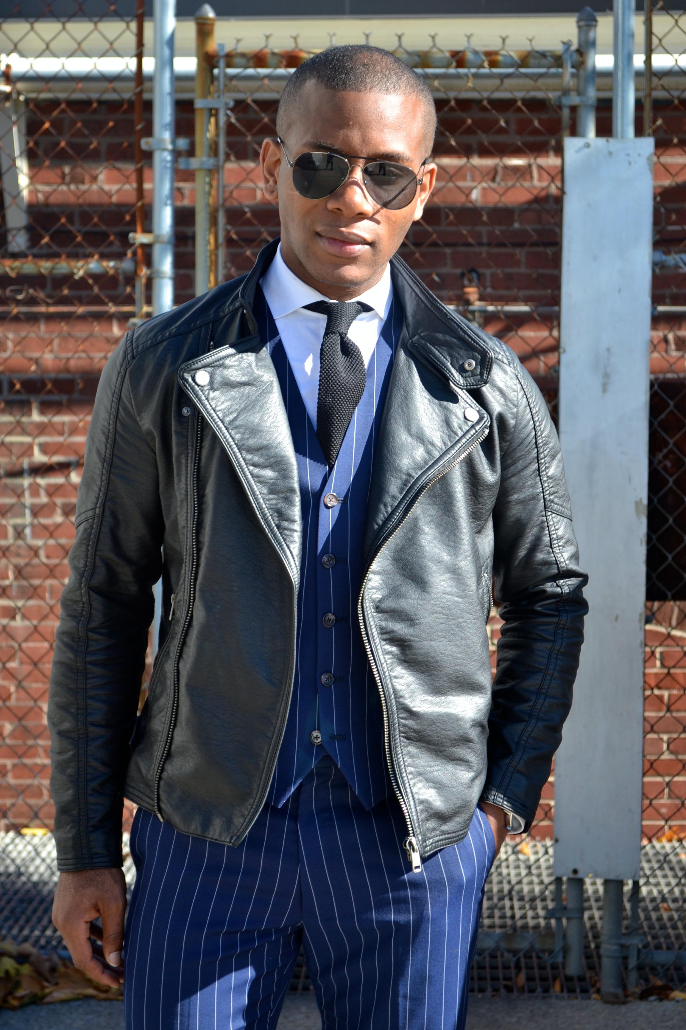 Men's Style Pro in Imparali Edinburgh Custom Chalk Stripe Suit