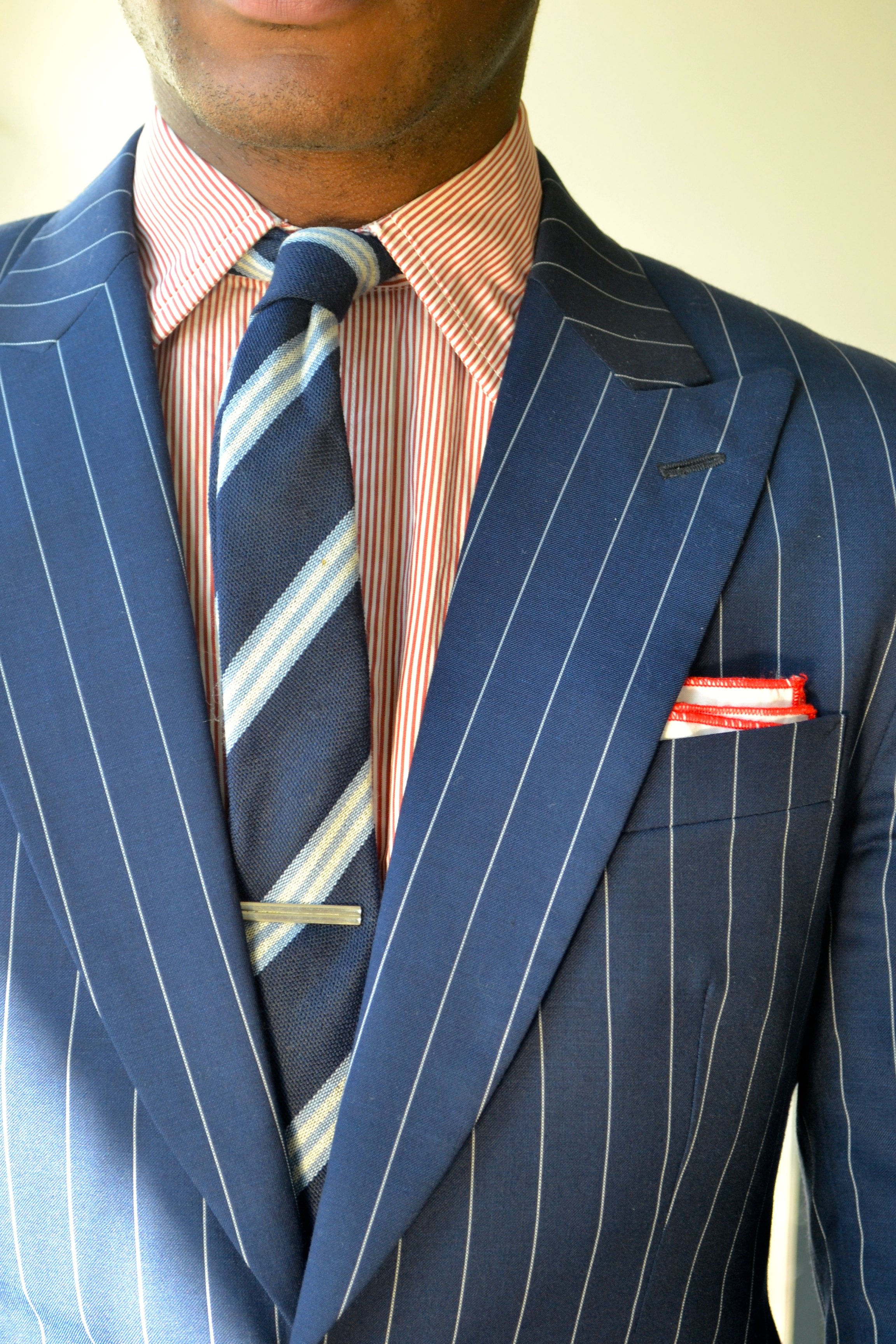 Men's Style Pro in Imparali Edinburgh Custom Chalk Stripe Suit