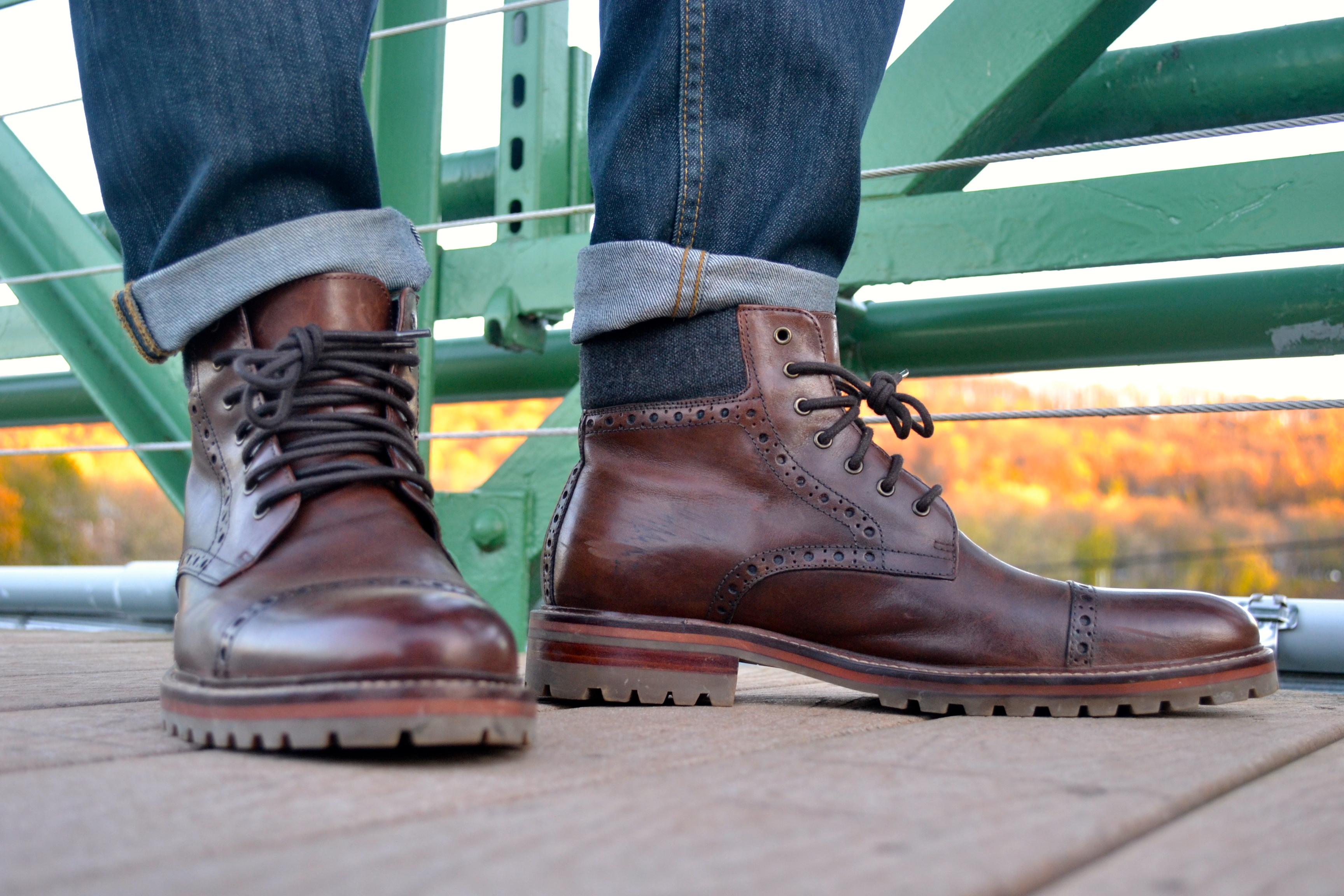 The Karnes Cap Toe Boot by Johnston & Murphy