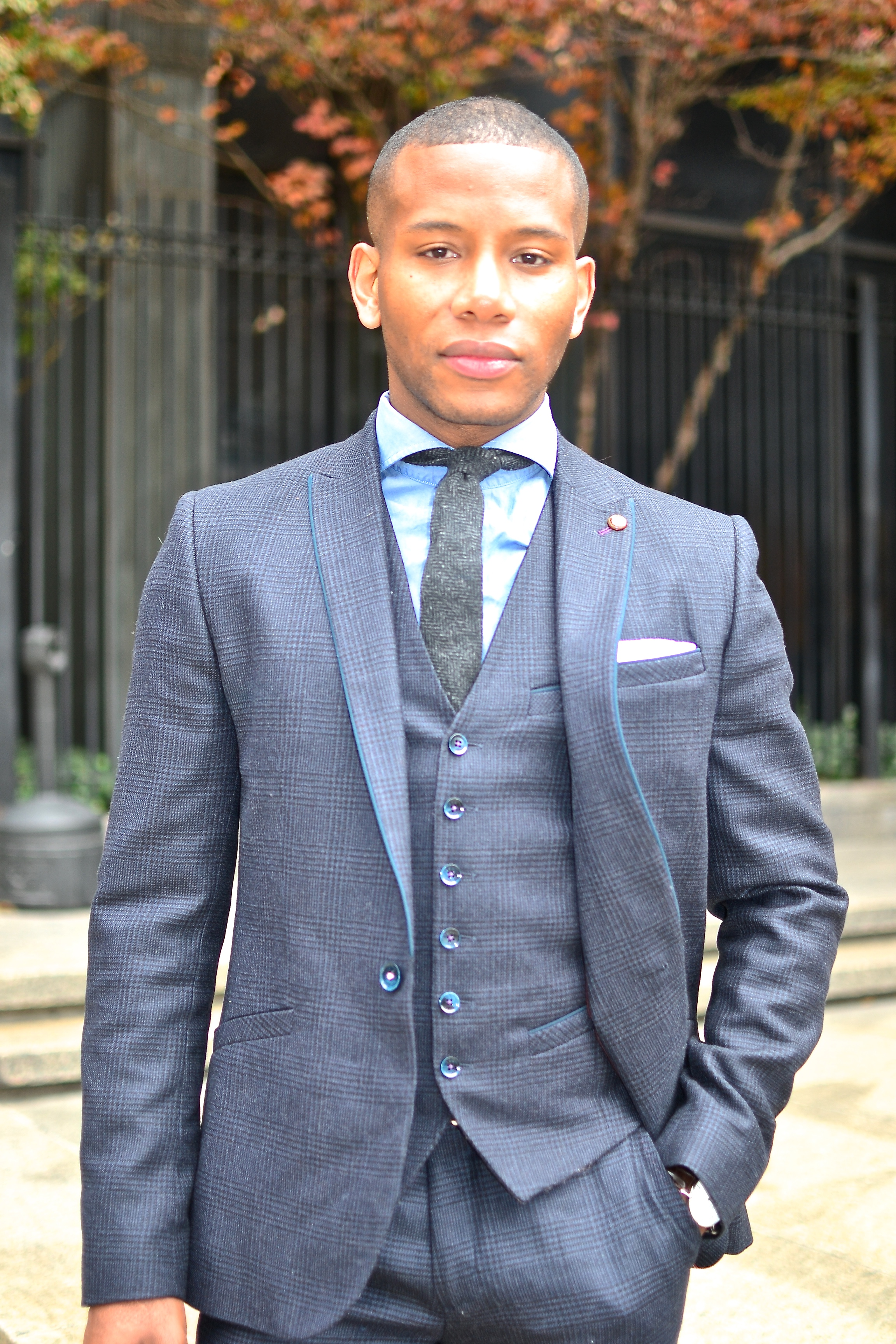 Ted Baker Wool Plaid Suit On Men's Style Pro
