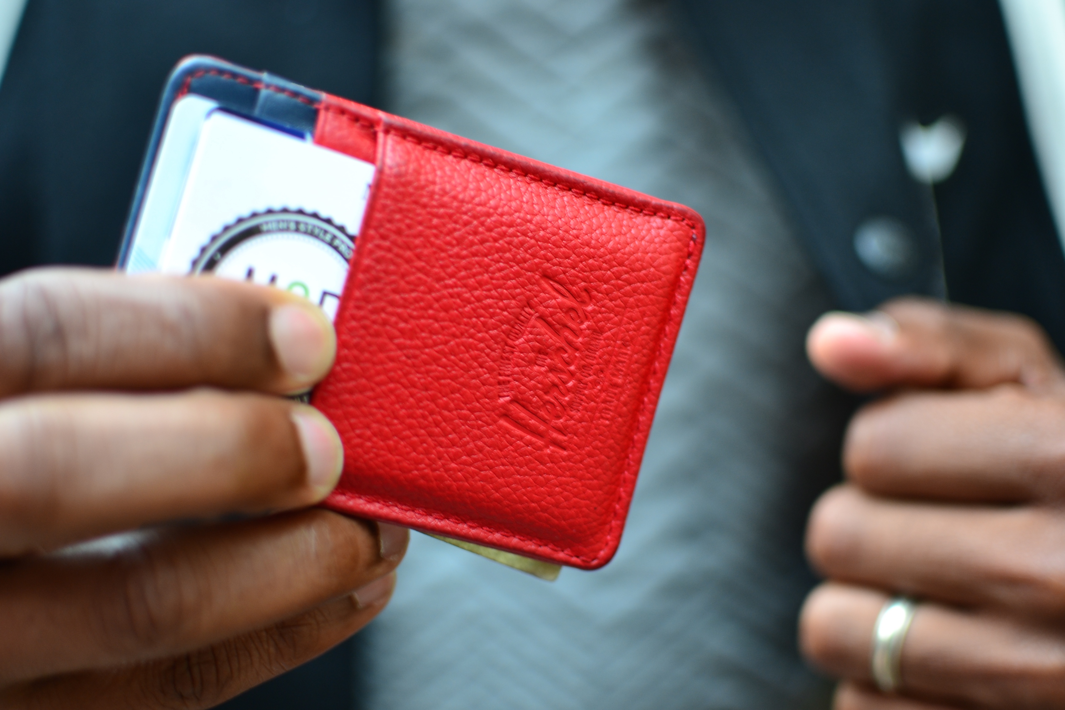 Herschel & Supply Co Red leather wallet from Zappos.com on Men's Style Pro Holiday Gift Guide