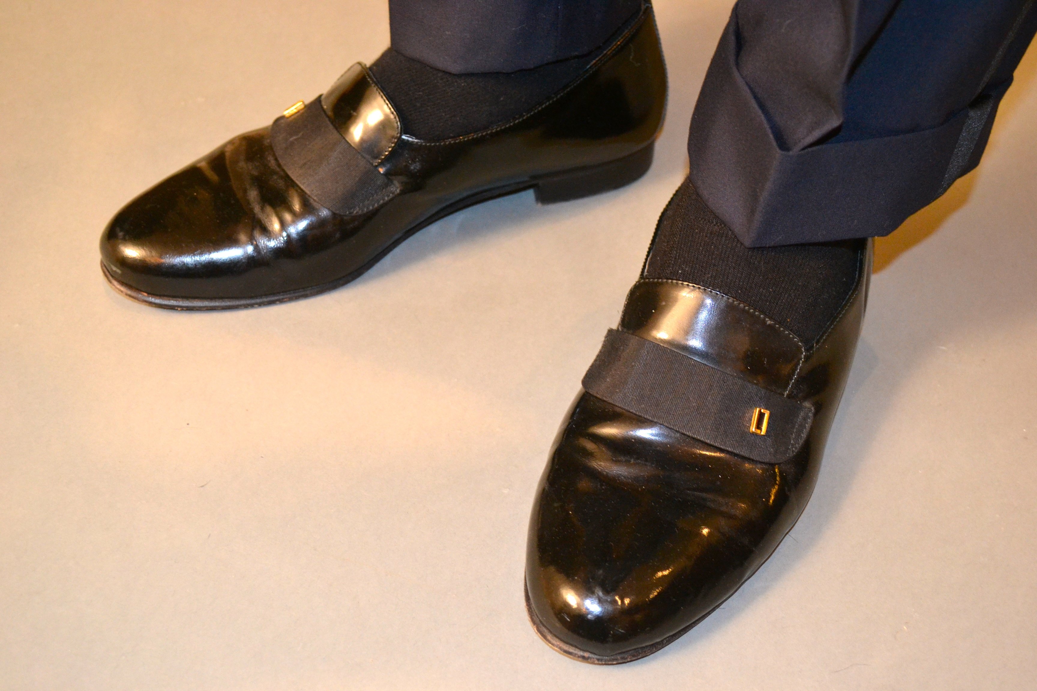 vintage tuxedo loafers