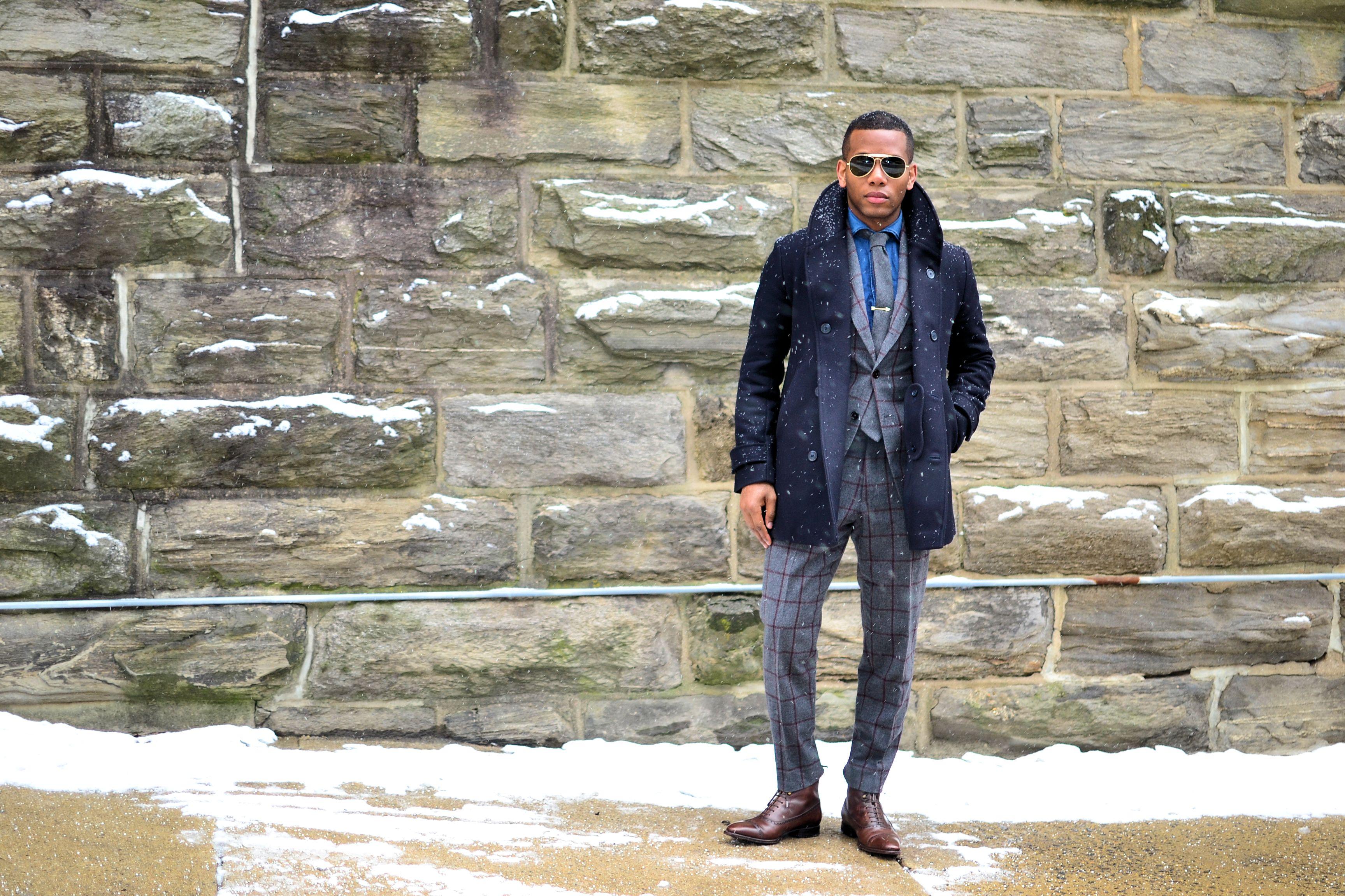 Knot Standard Ariston Windowpane Suit