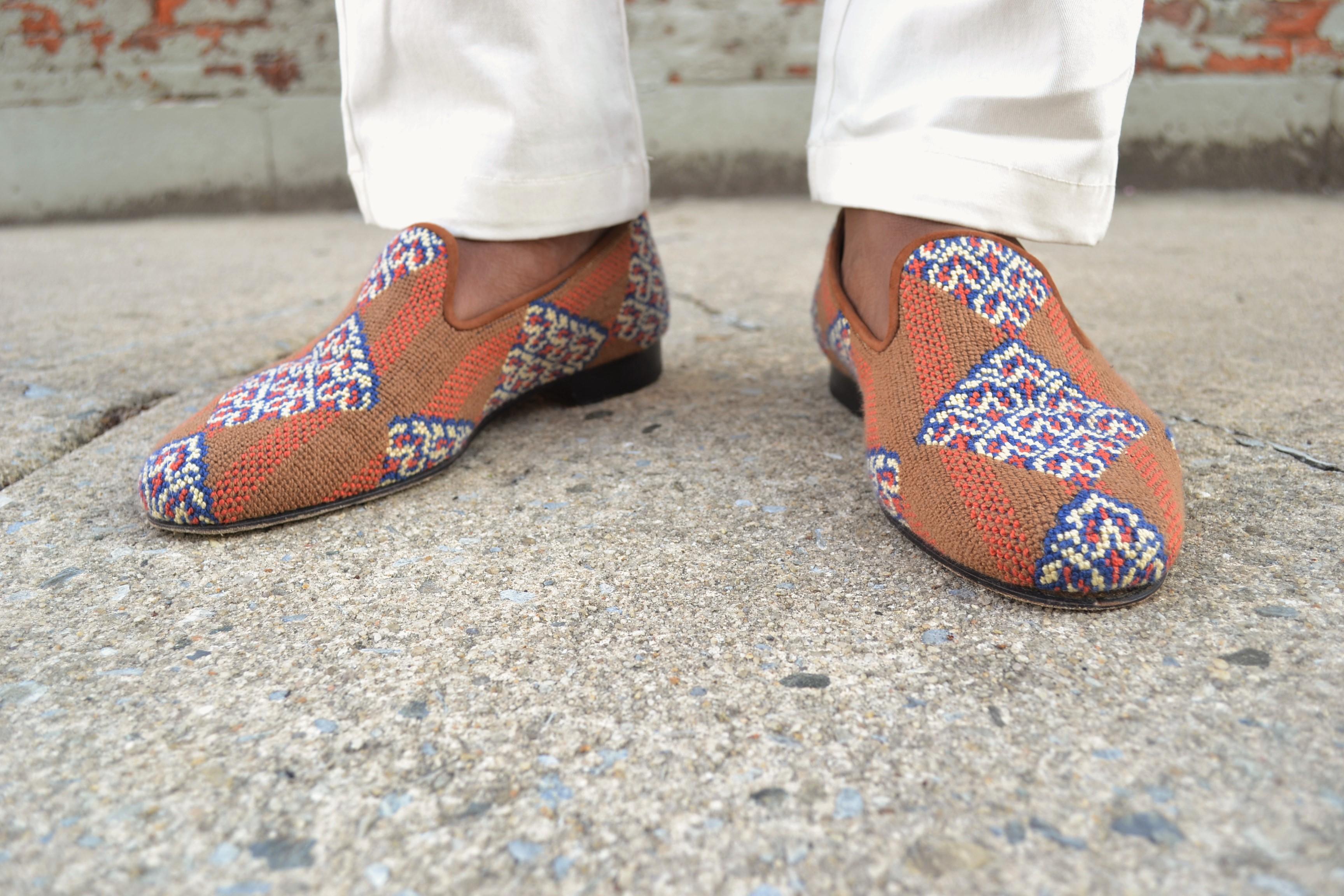 Axel Arigato Inka Needlepoint Slipper on Men's Style Pro
