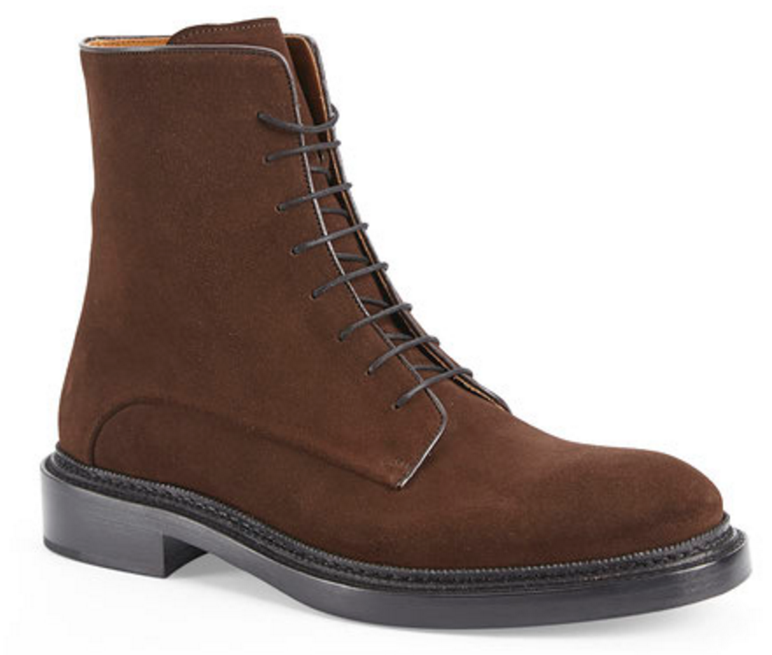 Jil Sander Brown Suede Boot C21 Stores