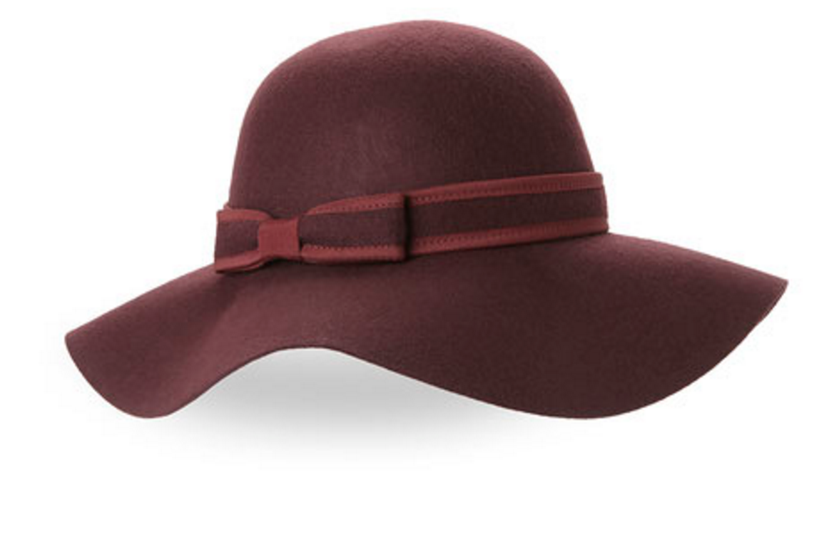 Collection 18 Bold Bow Floppy Wool Hat