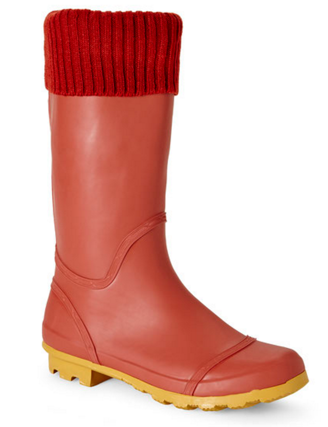 Henry Ferrera Red Knit Cuff Rain Boots