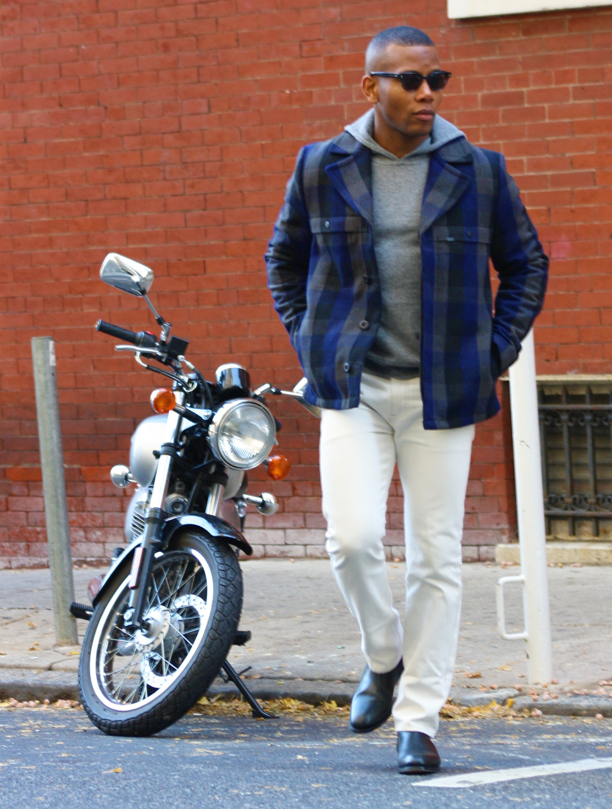 Sabir M. Peele of Men's Style Pro wearing Timberland Plaid Check Traveler Mountain Jacket
