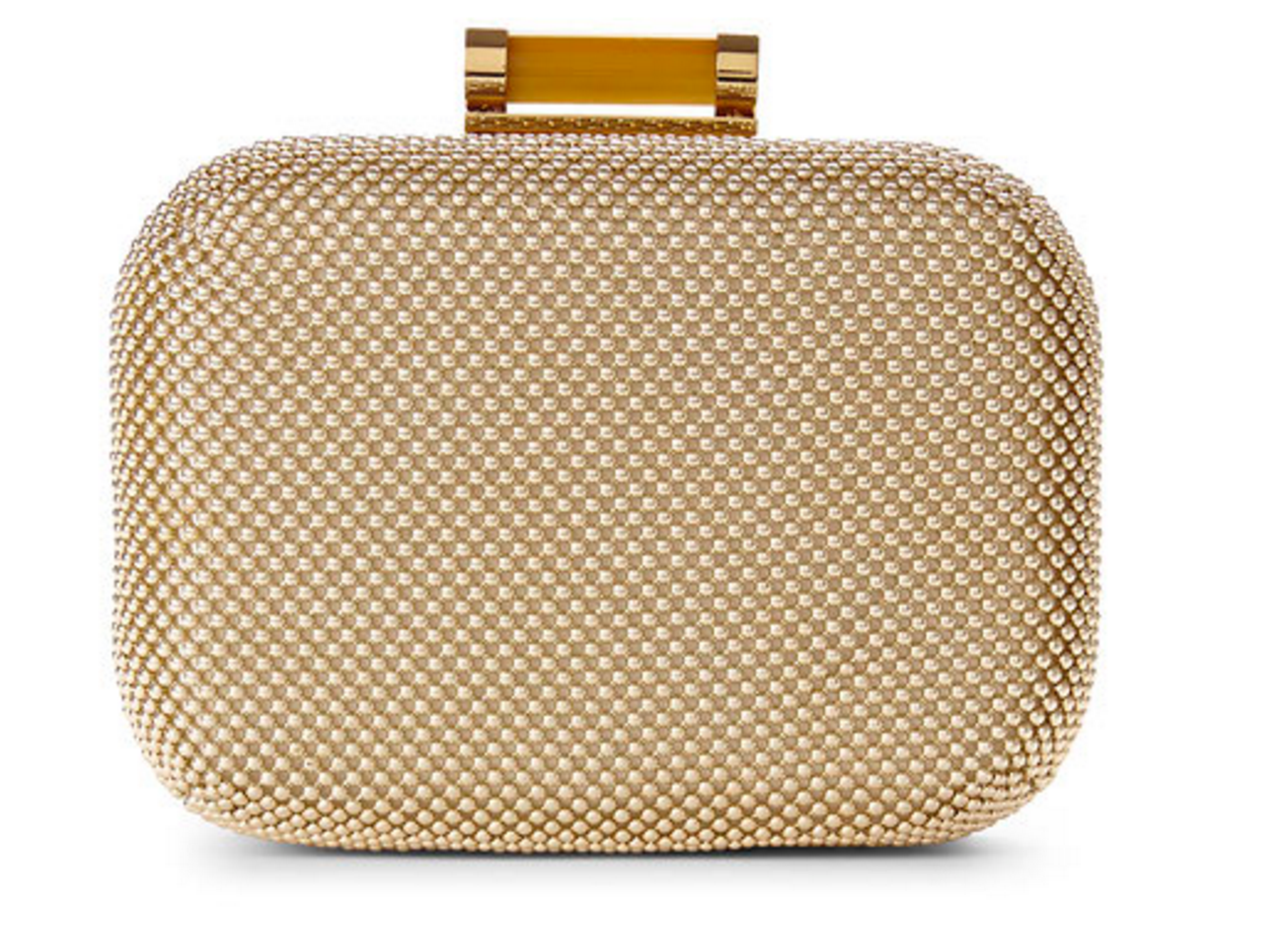 Jessica McClintock Gold Roxie Clutch
