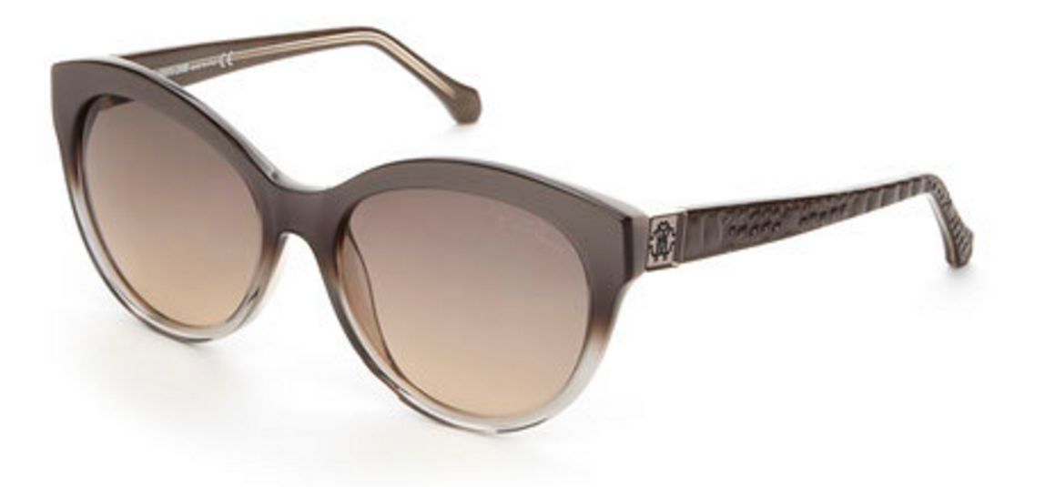 Roberto Cavalli Grey Albaldah XL Cat Eye Sunglasses