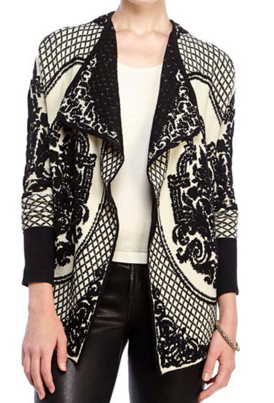 Sioni Demask Texture Knit Cardigan