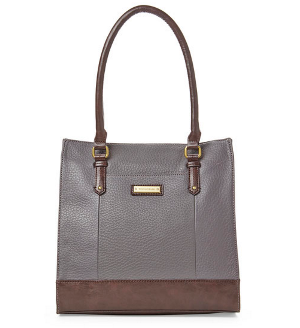 Tignanello Dark Grey & Brown Lexington Tote