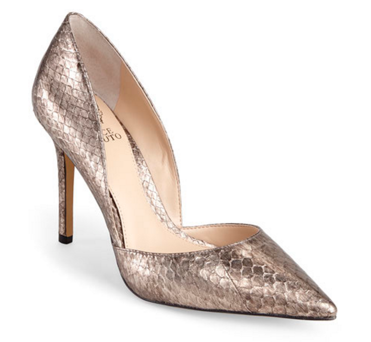 Vince Camuto Brown Snake Rowin Pumps