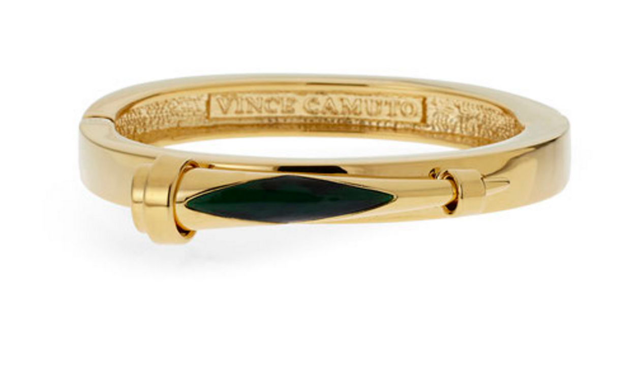 vince camuto gold-tone horn bangle