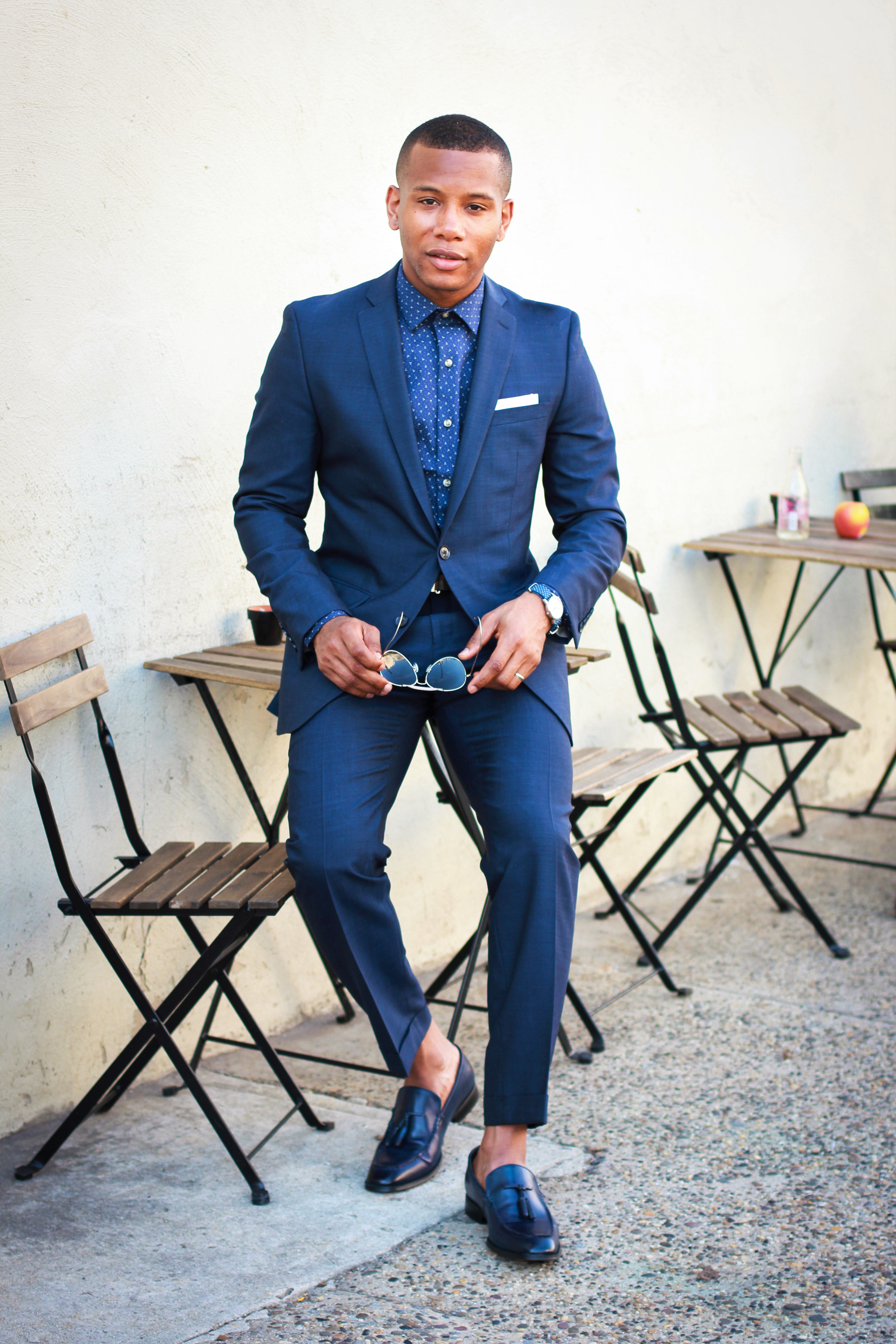 7e14a7f2f29 The Midnight Blue Suit 5 Ways With Bar III | Men's Style Pro .